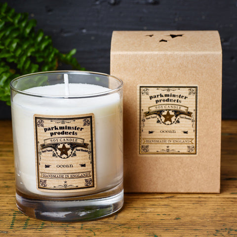 Parkminster Classic Large Votive Scented Candle 30cl Soy Wax Natural Scent Essential Oil - 60 hour burn time