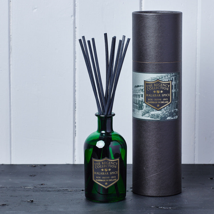 Malabar Spice Reed Diffuser - Regency Collection - Beautifully Scented Candles, Reed Diffusers for your home or office - Parkminster Products - Beautifully Scented Gifts for the Home