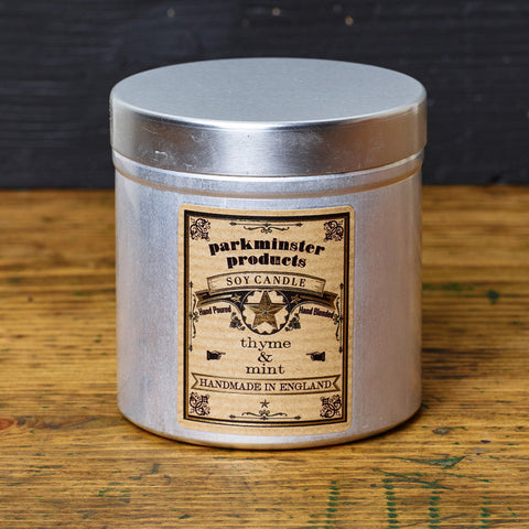 Parkminster Tin Candle - Utilitarian & Stylish - Naturally Scented Handpoured Soy Wax Candle - 40 hour burn time