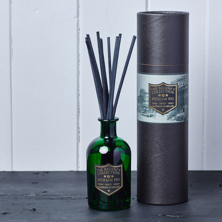 Sicilian Fig Reed Diffuser - Regency Collection - Beautifully Scented Candles, Reed Diffusers for your home or office - Parkminster Products - Beautifully Scented Gifts for the Home