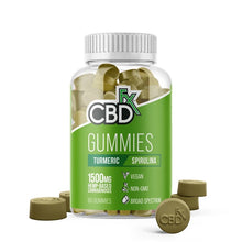 Load image into Gallery viewer, Turmeric+CBD Gummies