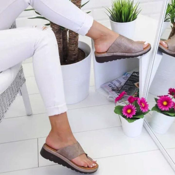 Women's Bunion Flat Sandals Slipons For Feet - fashion sandals for bunions