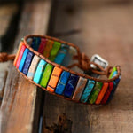Bohemian Emperor Stone Hand-knitted Leather Bracelet