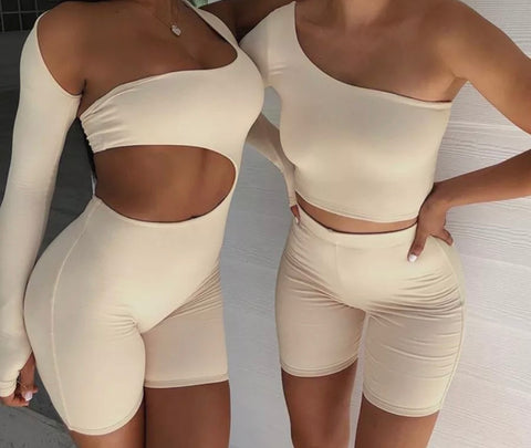 Asymmetrical Bodysuit