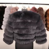 Fox Fur Cropped Jacket