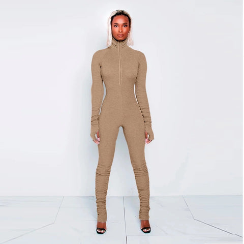 Turtle Neck Jumpsuit