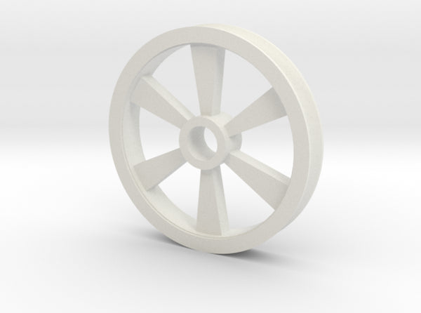6 spoked Gear Pulley 3d printed