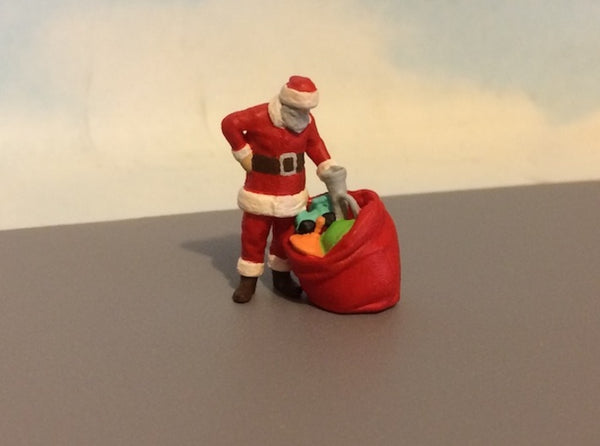 Santa Claus With Toy Bag 3d printed