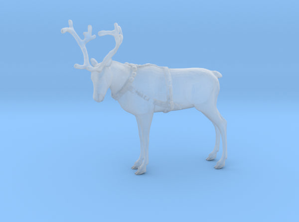 Reindeer Standing Small w/Harness 3d printed