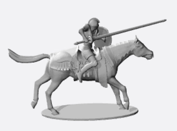 Knight Jousting 3d printed