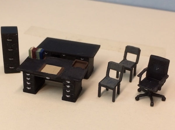 Office Furniture Set 3d printed