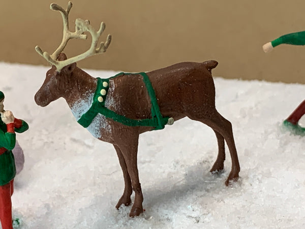 Reindeer Standing Medium w/Harness