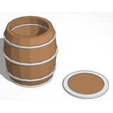 Wooden Barrels 55 Gallon