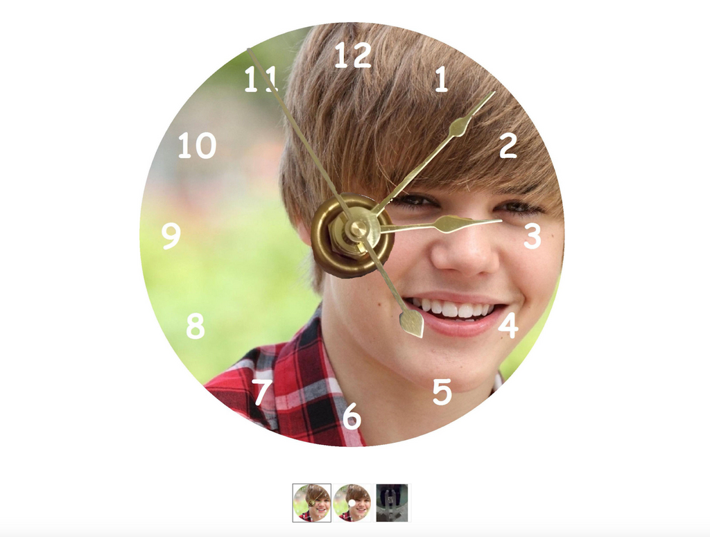 9c5db155d6  Tis the season to declare your undying love for the Biebs. And what better  way to do that than with a CD clock comprised of brass hands and a printed  ...