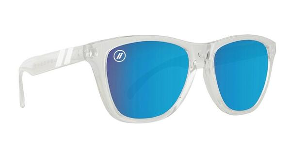 09753d3482 Crystal clear frames meet azure mirrored lenses for an aesthetic that turns  heads and quickens pulses. You re going to make a splash rocking the  Natty  ...