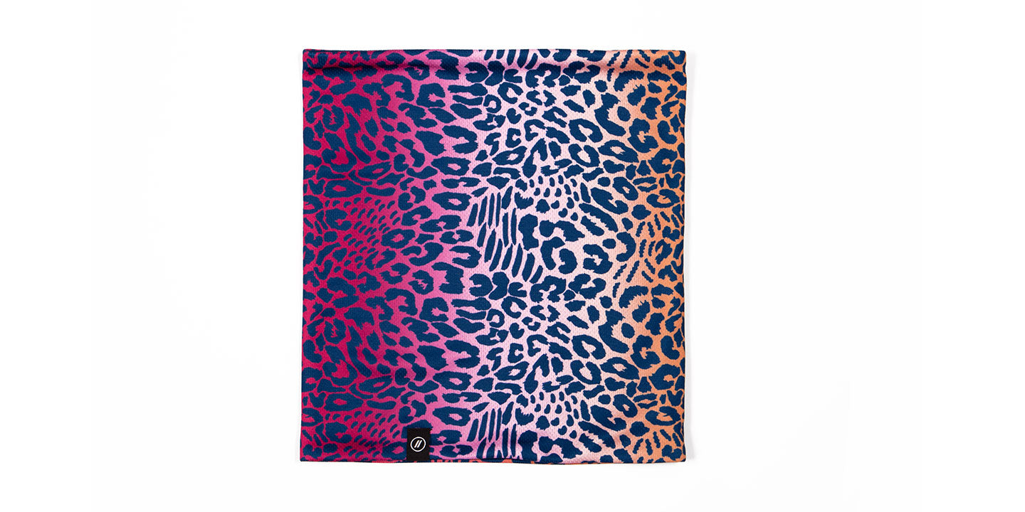Cheetah/Navy Neck Gaiter