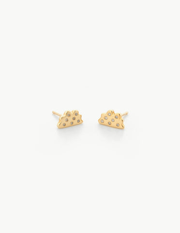 Cloud Studs with Pave