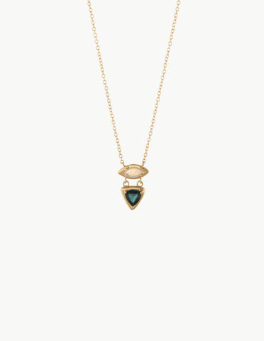 Opal & Tourmaline Cluster Necklace - Dream Collective