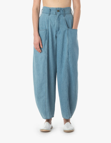 Medium Light Denim Bell Pants - Dream Collective