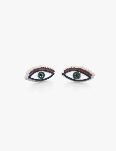 Third Eye Studs in Green - Dream Collective
