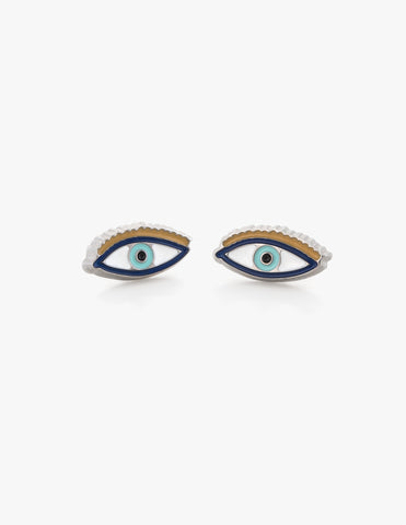 Third Eye Studs in Turquoise