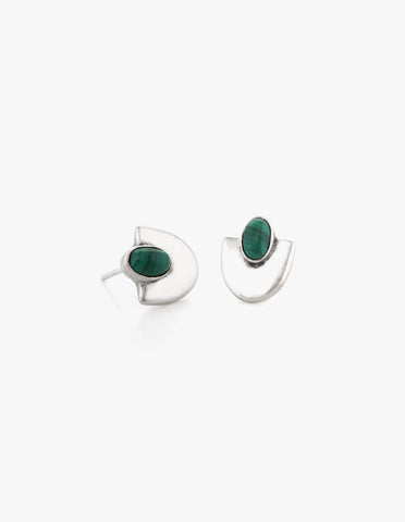 Deco Studs #4 in Malachite