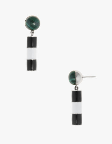 Noguchi Studs in Malachite - Dream Collective