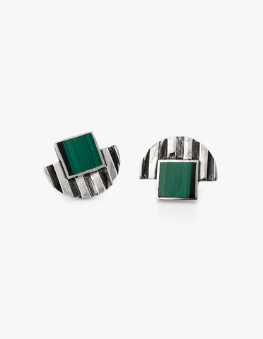 Deco Studs #1 in Malachite