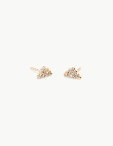 Pyramid Studs with Pave