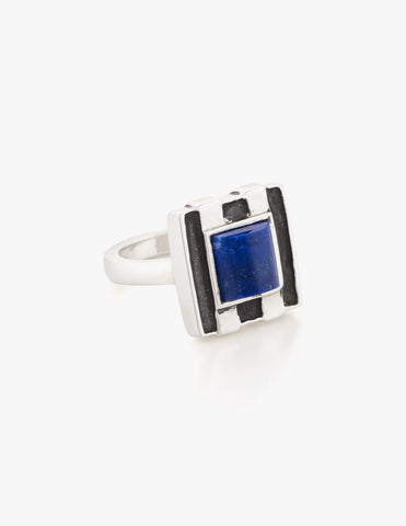 Deco Ring #2 with Lapis