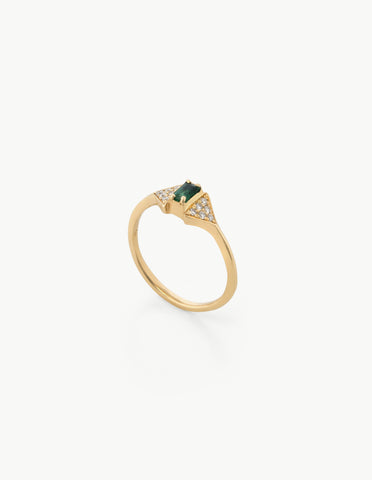 Joni Ring in Diamond and Emerald