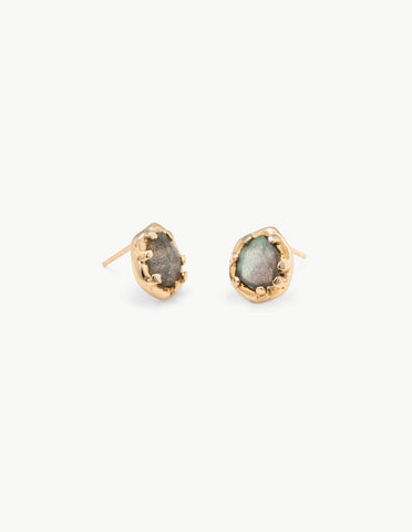 Labradorite Organic Amulet Studs - Dream Collective