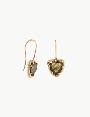 Tourmaline Organic Amulet Earrings
