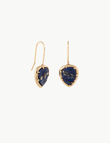 Lapis Organic Amulet Earrings