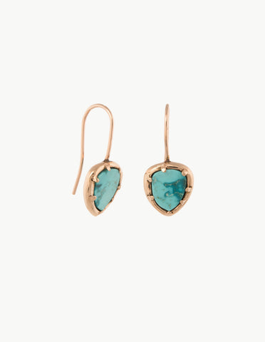 Turquoise Organic Amulet Earrings