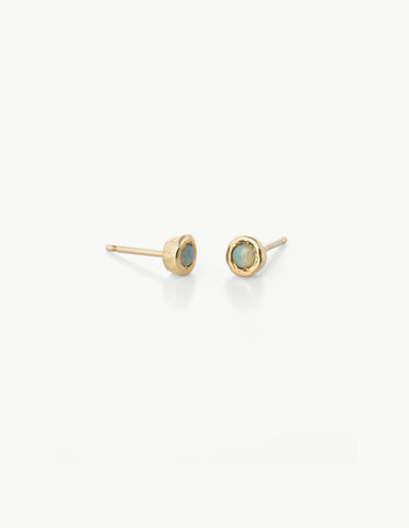 Tiny Dot Studs in White Opal - Dream Collective