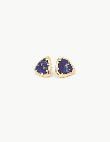 Lapis Organic Amulet Studs - Dream Collective