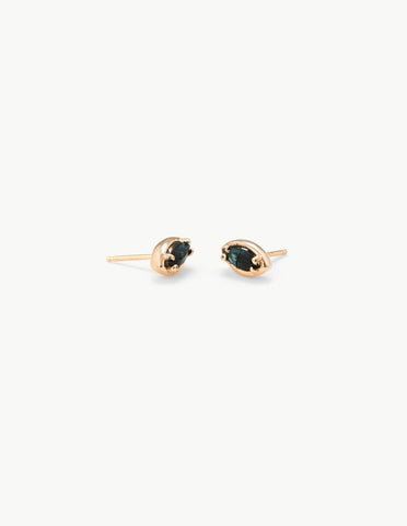 Eye Studs in Green Tourmaline - Dream Collective