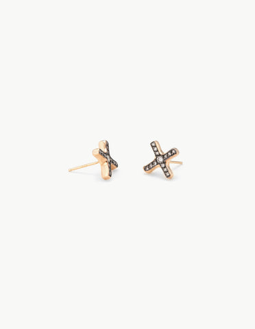 Diamond Positive Sign Studs - Dream Collective