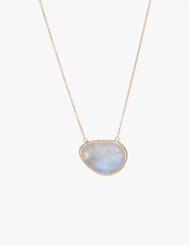 Moonstone Slice Necklace