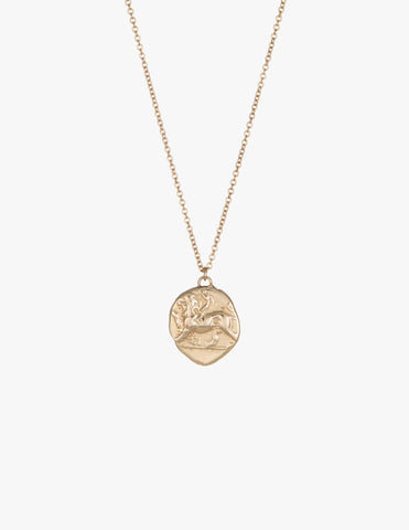 Chimera and Dove Coin Pendent