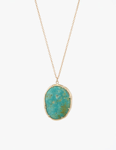 Turquoise Organic Amulet Pendant - Dream Collective
