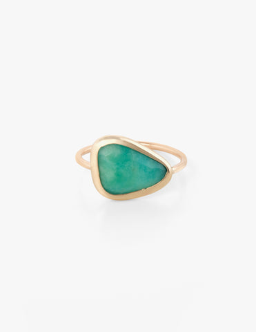 Amazonite Slice Ring