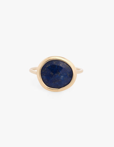 Lapis Slice Ring