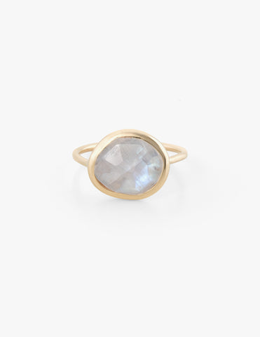 Moonstone Slice Ring - Dream Collective