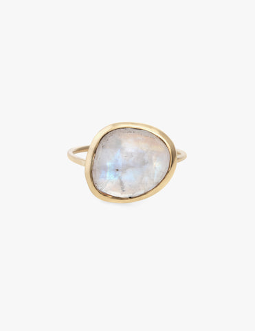Moonstone Slice Ring