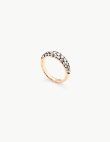 Organic Oval Band with Diamonds - Dream Collective