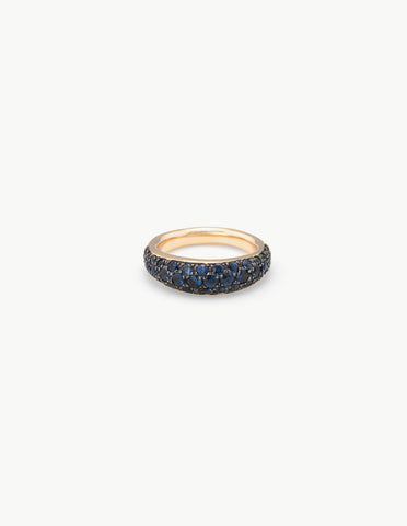 Organic Oval Band with Sapphires