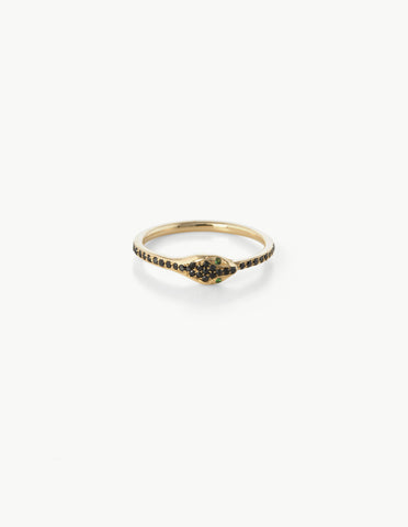 Black Diamond Ouroboros Eternity Ring - Dream Collective