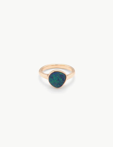 Small Opal Organic Amulet Ring